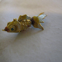 Cloisonne Koi Fish Pendant