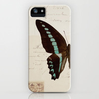 blue spotted butterfly iPhone Case by Beverly LeFevre | Society6