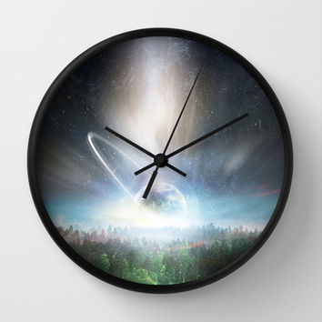 Death cup Wall Clock by HappyMelvin