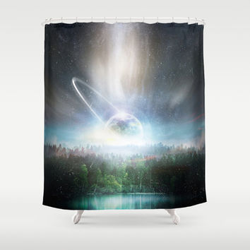 Death cup Shower Curtain by HappyMelvin