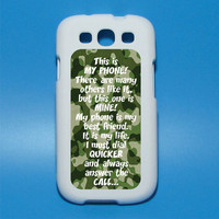 This is My Phone, there are many others like it, but this one is mine Iphone decal Mac decal Galaxy 3 decal ipad decal iphone sticker