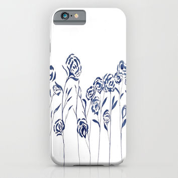 FEELING BLUE by Sharito Lopez (blue indian ink) iPhone & iPod Case by Sharito Lopez