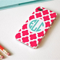 iPhone 5 Case - Custom Fuchsia Tile, Monogrammed