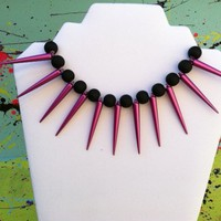 Magenta Spike Necklace on Luulla