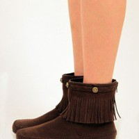 Ankle Fringe Moccasin Boot