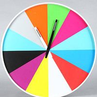 The Ultra Flat Wall Clock in Multi Color