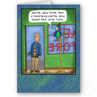 Funny Birthday Cards: Pet Shop from Zazzle.com