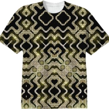 TRIBAL GOLD GLAM T-Shirt created by Webgrrl | Print All Over Me