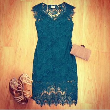 Free People Peacock lace Dress