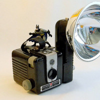 vintage brownie hawkeye camera with flash by FlumeStreet on Etsy
