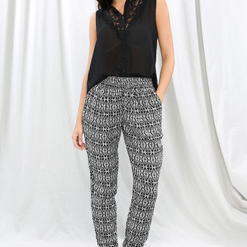 Abstract Print Joggers