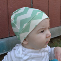 Organic Chevron Knit Baby Hat on Luulla