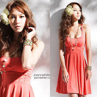 New Japan Womens Fashion Sexy Korea Low-Neck Dresses HOT 1116