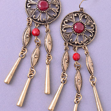 Dangling Tribal Earrings