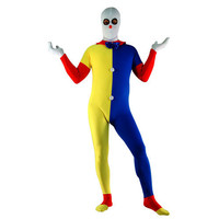 Clown Multicolor Full Body Lycra Spandex Zentai Suit -Yellow Blue Red White [TWL111219048] - 28.19 : Zentai, Sexy Lingerie, Zentai Suit, Chemise