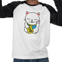 maneki neko t-shirt from Zazzle.com