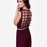Sexy Cutout Dress - Purple Dress - Backless Dress
