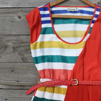 Song Bird Stripe Dress, Sweet Women&#x27;s Country Clothing