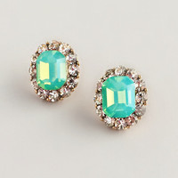Mint Crystals Studl Earrings