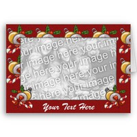 Card Template - Christmas Border from Zazzle.com