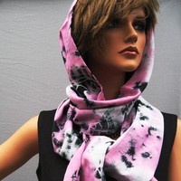 Handmade scarf  with hood ID39 by fayefayeyang on Etsy