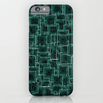 The Maze - Teal iPhone & iPod Case by Alice Gosling