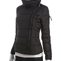 Marc New York black quilted asymmetrical down jacket | BLUEFLY up to 70% off designer brands