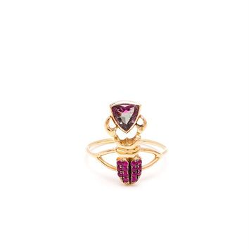 18K Yellow Gold, Sapphire and Tourmaline Ring - DANIELA VILLEGAS