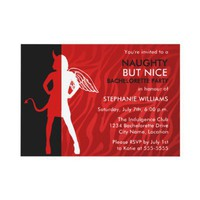 Naughty But Nice Bachelorette Party Invitation from Zazzle.com