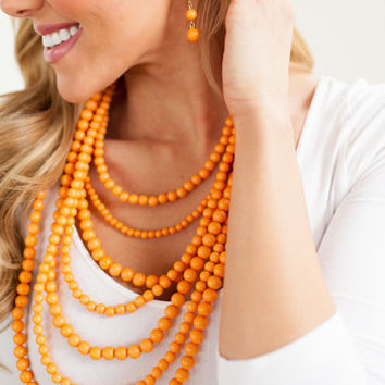 Layers and Dangles Pearl Set Orange