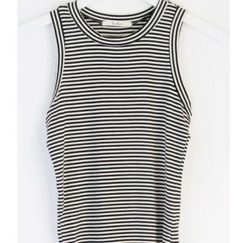 FITTED STRIPED TANK