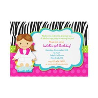 Spa Birthday Party Invitations from Zazzle.com