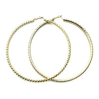 """Not Today"" Extra Large Metal Hoops"