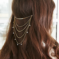 Chained Rhinestone Headband