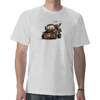 Tow Truck Mater Smiling Disney T Shirts from Zazzle.com