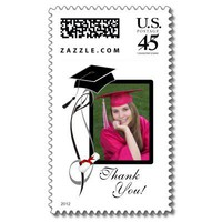 Graduation Photo Postage Stamps from Zazzle.com