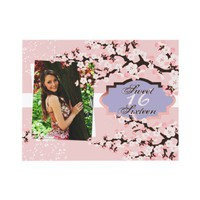 Cherry Blossom Sweet 16 Birthday Party Invitation from Zazzle.com