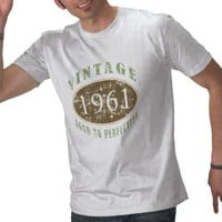 Vintage 1961 Distressed Tee Shirt from Zazzle.com