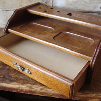 Vintage Valet or Jewelry Box For Men Wooden