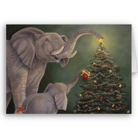 Jumbo Holiday Card from Zazzle.com