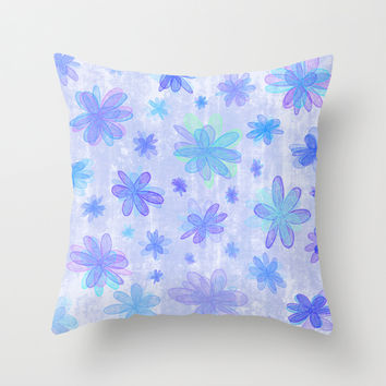 4 Seasons - Winter Throw Pillow by Alice Gosling