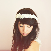 White Blossom Flower Crown by littlehoneypies on Etsy