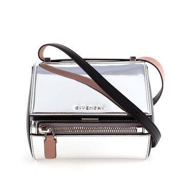Metallic Mini Pandora Box Bag - GIVENCHY