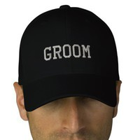 Groom baseball cap from Zazzle.com