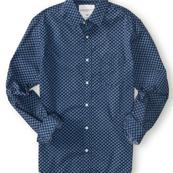 Aeropostale  Long Sleeve Geo Dot Woven Shirt