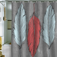 DENY Designs Home Accessories | Wesley Bird Feathered Shower Curtain