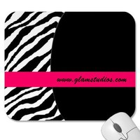 Zebra Striped Mousepad from Zazzle.com
