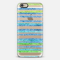 Glamour Stripes Ocean (transparent) iPhone 6 case by Lisa Argyropoulos | Casetify