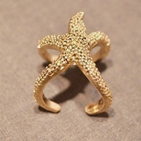 Cute Starfish Ring-Ariel,Adjustable ring, Personalized Stars' Jewelry Gift for Girls, Women Ring  R1-1
