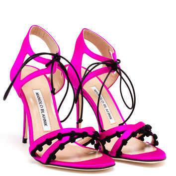 Satin Esparra Sandals - MANOLO BLAHNIK
